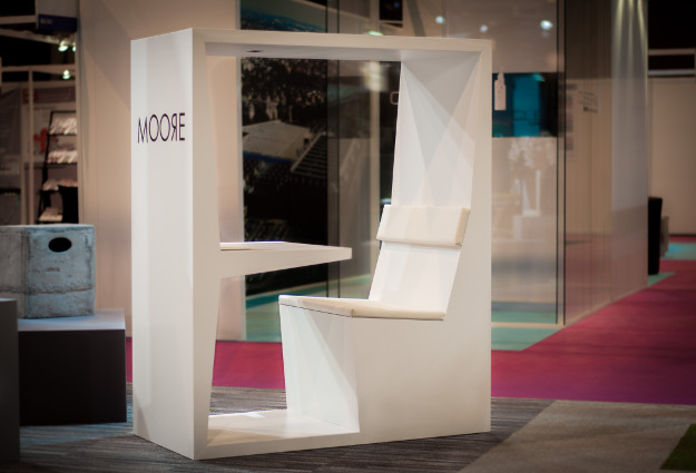 Salon individuel TUBE INTO Mobilier Design ergonomique